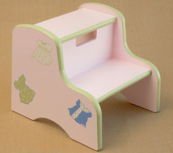 Dresses Hand Painted Kids Step Stool