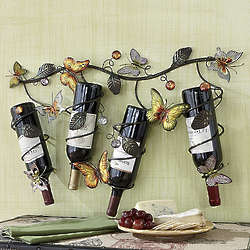 Wall Mounted Butterfly Wine Rack