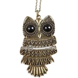 Vintage Owl Shape Long Necklace