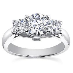2.10 Ct. H SI2 Three Stone Diamond Ring