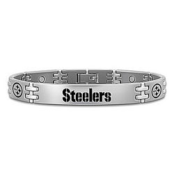 Men's Pittsburgh Steelers Titanium Magnetic Bracelet