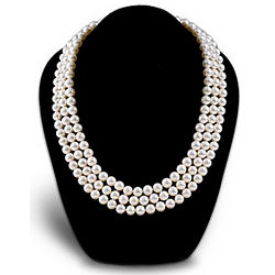 Today, Tomorrow, and Always Three-Strand Cultured Pearl Necklace