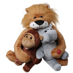 In the Jungle Singing Lion and Friends Stuffed Animals