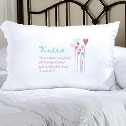 Girl's Personalized Proverbs Pillow Case