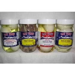 4 Jars of Pickled Poultry Paradise Sampler