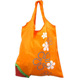 Reusable Shopping Tote Bag in Strawberry Pouch