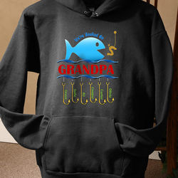Hooked On You Fishing Personalized Black Sweatshirt