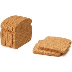 Cork Toast Coasters Set