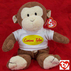 Personalized Just Curious Dangles Monkey