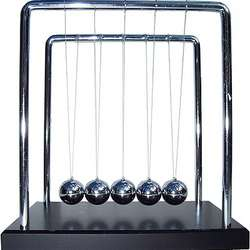 Large Newtons Cradle with Wooden Base