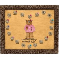 Personalized Businesswoman Bears on Plaque