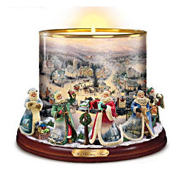 Thomas Kinkade It's Time For Christmas Porcelain Candleholder