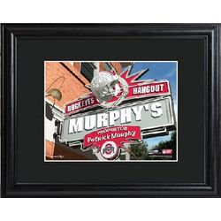 Personalized College Hangout Print with Wood Frame