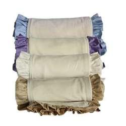 Organic Velour/Cotton Ruffle Baby Blanket