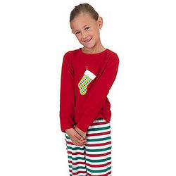 Holiday Stripe Pajamas for Girls