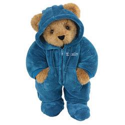 """15"""" Blue Hoodie-Footie Teddy Bear"""