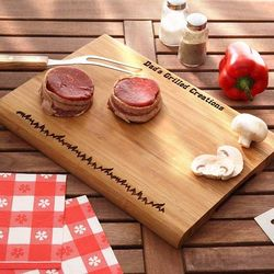 Personalized Grilled To Perfection Bamboo Cutting Board