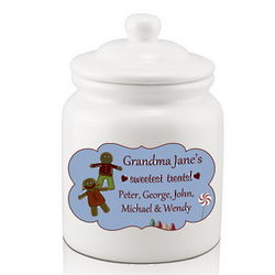 Grandma's Sweetest Treats Personalized Cookie Jar