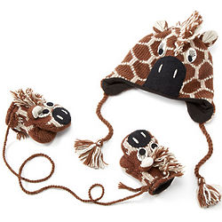 Toddlers Giraffe Hat or Mittens