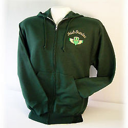Irish Grandma, Grandpa, Mom, or Dad Full Zip Sweatshirt