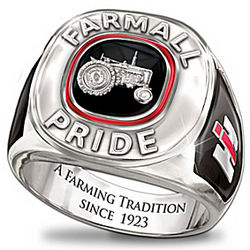 Farmall Pride Solid Sterling Silver Men's Ring