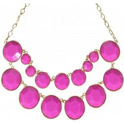 Double Layer Pink Bubble Necklace