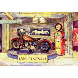 Personalized Motorcycle Shoppe Art Print