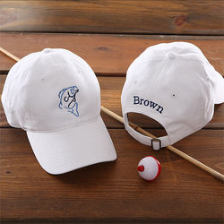 Sports and Recreation Personalized White Cap