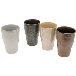 Metallic Stoneware Cups