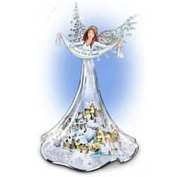 Illuminated Angel of Peace Figurine