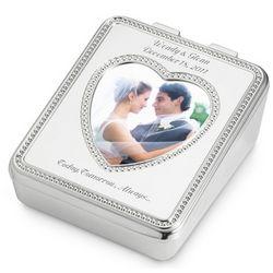 Beaded Photo Heart Jewelry Box
