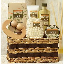 Invigorating Vanilla and Ginger Spa Basket
