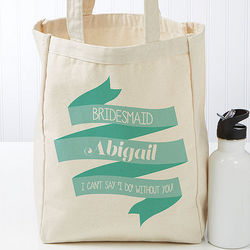 Personalized Wedding Celebration Petite Tote Bag