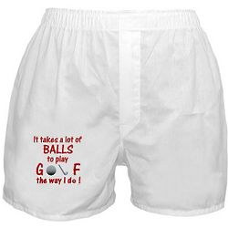 Play Golf the Way I Do Boxer Shorts