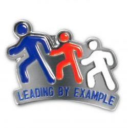 Leading By Example Lapel Pin