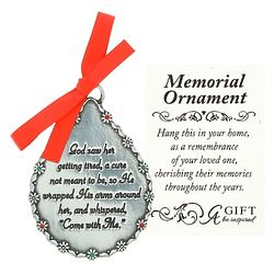 Personalized God Saw Her Memorial Ornament