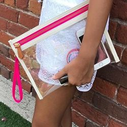 Large Clear Zippered Pouch
