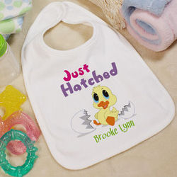 Personalized Easter Baby Bib - Just Hatched