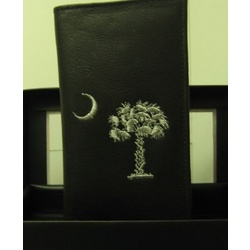 South Carolina Leather Checkbook Wallet