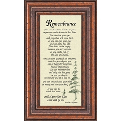 Male Remembrance Frame