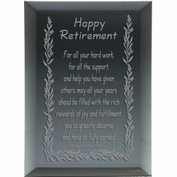 Happy Retirement Poem Mirror Plaque Findgift Com