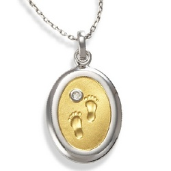 Diamond Footprints Necklace