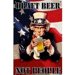 Uncle Sam Draft Beer Vintage Sign