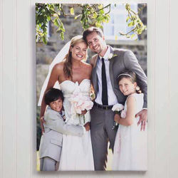 Wedding Memories Custom Photo Canvas Print