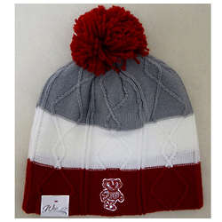 Women's Bucky Badger Knit Hat with Pom