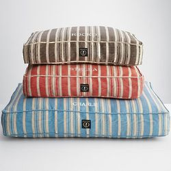 Hemp Stripe Dog Bed