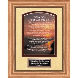 Miss Me But Let Me Go Sunset Oak Frame
