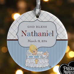 Precious Moments Personalized Christening Ornament