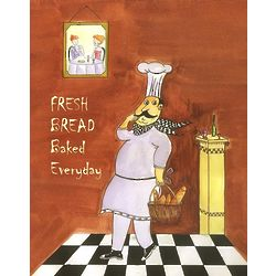 Personalized Sneaky Bread Chef Print