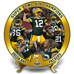 Green Bay Packers Super Bowl XLV Champions Collector's Plate